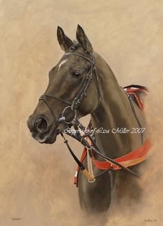 060f908d1796 Equestrian artist Lisa Miller produces original horse painting and portraits.  The perfect birthday gift or christmas present for the horse owner, ...