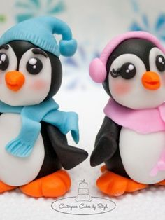Penguin Cakes Toppers. Boy? Girl?