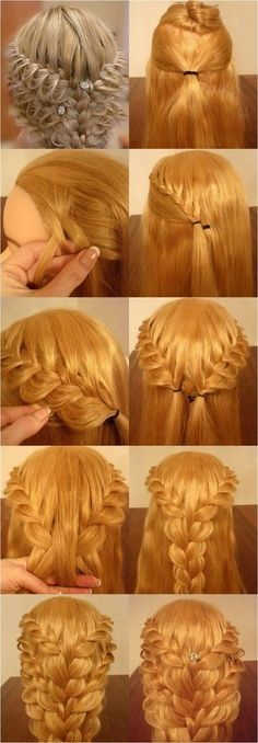 Beautiful hair style, do u wanna to leant to do this by yourself? Follow me to find more make up and hair style steps. #hairstyle