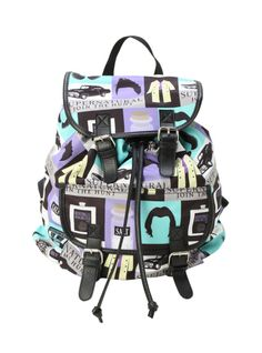 77b593621097 Slouch backpack with a Supernatural icons print. Snap button and drawstring  closure. Supernatural Backpack
