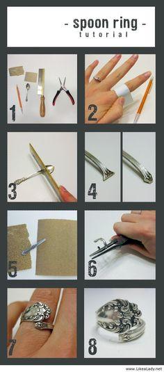 Spoon ring tutorial