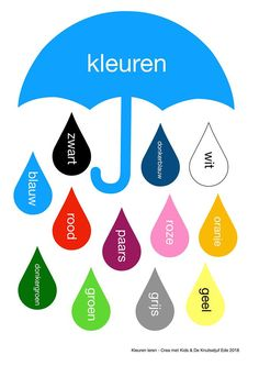 Learn Dutch, School Checklist, Dutch Words, Dutch Language, Shape Books, Little King, Learning Numbers, Art N Craft, Puzzles For Kids