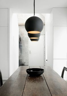 * table and pendant lights