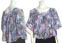 Sheer Vintage 70s Cocoon Style Top