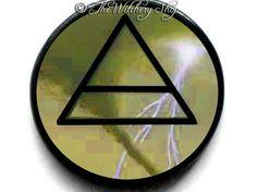 Air Element Symbol - Talisman Amulet  Pendant Tile - Witch Wicca Pagan