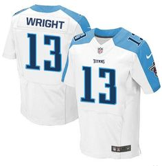 Tennessee Titans Jersey - Kendall Wright White Elite Football Jersey c9bdbe3d8