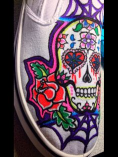 Sharpie drawing on shoe -request he got...