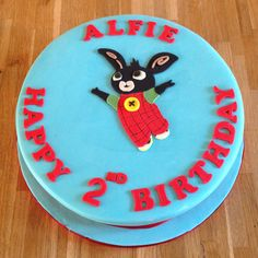 CBeebies Bing birthday cake Bing Cake, Celebration Cakes, 2nd Birthday, Cake Ideas, Bunnies, Tv, Desserts, Cake Toppers, Party