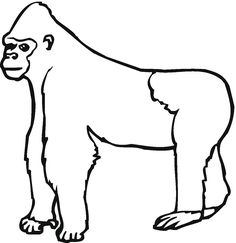 fill in with black beans etc to make silverback gorilla