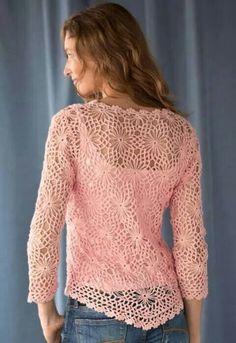 Captivating Crochet a Bodycon Dress Top Ideas. Dazzling Crochet a Bodycon Dress Top Ideas. Crochet Daisy, Crochet Jacket, Crochet Cardigan, Knit Crochet, Pixel Crochet, Crochet Tops, Knit Dress, Margarita Crochet, Crochet Woman