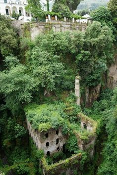 Along the southwest coast of Italy, near the island of Capri, is the historic valley of Vallone dei Mulini. The topography was created from a volcanic eruption some 35,000 years ago, and deep within it, a derelict 19-century mill that has been overrun by vegetation.