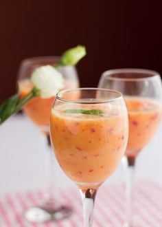 Cocktail with nectarines