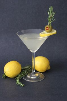 Lemon Rosemary Martini  This simple cocktail... | Daily Squeeze