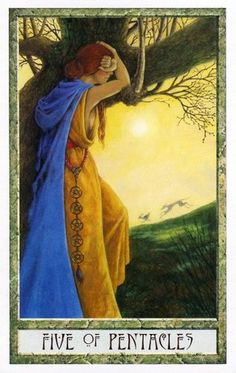The Druid Craft Tarot ► Five of Pentacles