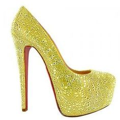 Bling Bling Daffodile 160 Pumps Yellow www.shoelovers.se Christian  Louboutin Skor e7954dbc8f54c