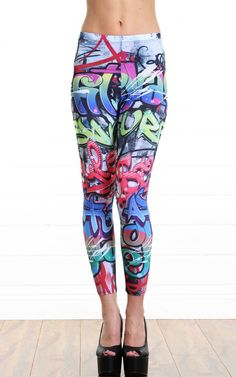 Graffiti Wall Leggings MULTI