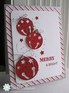 I like using the red for the jingle bells; very festive card!