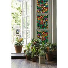 DC Fix in. Spring Chapel Window Film ((Set of - The Home Depot Stained Glass Window Film, Stained Glass Art, Window Glass, Fused Glass, Privacy Glass, Window Privacy, Shower Doors, Window Coverings, Decoration