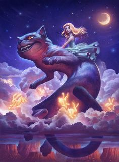 Annie & Justin Gerard, or Gallery Gerard, are an artist duo creating fantastic, mythology and fantasy inspired paintings and illustrations. Fantasy Paintings, Art Paintings, Fantasy Art, Character Art, Character Design, Chesire Cat, Art Simple, Art Watercolor, Fantasy Illustration