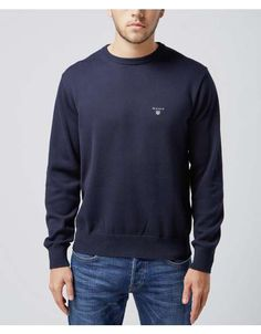 GANT Cotton Crew Neck Jumper | Scotts Menswear
