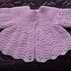 Crochet Baby Cardigan Free Pattern, Crochet Baby Jacket, Crochet Baby Sweaters, Baby Sweater Patterns, Baby Clothes Patterns, Baby Girl Crochet, Crochet Baby Clothes, Newborn Crochet, Hat Crochet