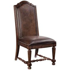 Bernhardt Normandie Manor Caffe Brown Upholstered Side Chair Set Of 2