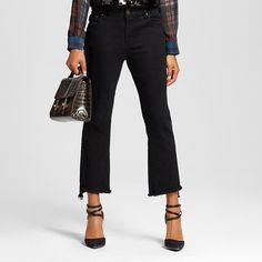 Women's Frayed Edge Denim Crop - Who What Wear ™ : Target