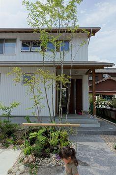 Garden Trees, Plant Design, Walkway, Backyard Landscaping, Facade, Exterior, Landscape, Luxury, Places