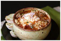 Lasagna Soup by afarmgirlsdabbles #Soup #Lasagna