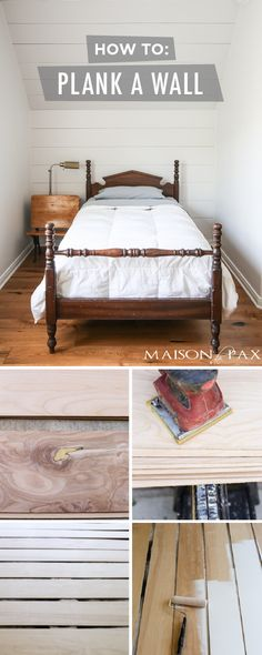 Get the latest in interior design trends in your home with this DIY plank wall tutorial from Rachel, of Maison de Pax. Rachel used planks of wood to create a trendy accent wall in her kid's bedroom in just a few easy steps. Then, she finished her farmhouse chic plank wall off with a fresh coat of Cameo White to create a timeless neutral look that will last her for years to come.