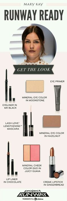 Who knew runway glam could be so simple? Recreate Project Runway's premiere episode's winning look with these Mary Kay® makeup staples! Http://www.marykay.com /cherilynsmith