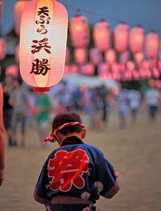 Japanese kid in Happi for Matsuri Festival
