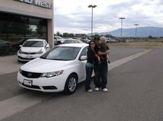 RHONDA AND JAMES's new 2010 KIA FORTE! Congratulations and best wishes from Grand West Kia and Theron Bemis.