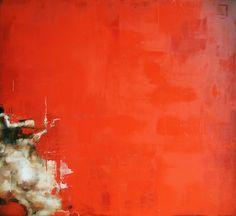 Cesar Biojo,Unknown 2,oil on wood, 122 x 122cm, 2010.