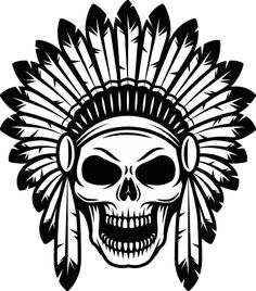 Big Black & White Tribal Skull Temporary Tattoo - Animal Spirit Wild Skull Tribal Temporary Tattoo C Tattoo Sketches, Tattoo Drawings, Art Sketches, Art Drawings, Skull Stencil, Skull Art, Halloween Drawings, Halloween Tattoo, Indian Skull Tattoos