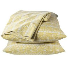 Citron Feather Sheet Set - love this pattern, but wish they were 100% cotton