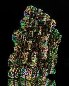 Hoppered Bismuth Crystals