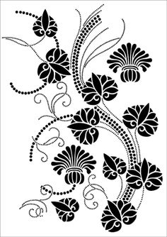 Luxor stencil from The Stencil Library VINTAGE range. Stencil Patterns, Stencil Designs, Paint My Room, Font Digital, Stencils Online, Bunch Of Flowers, Cut Out Design, Black And White Design, Painted Floors