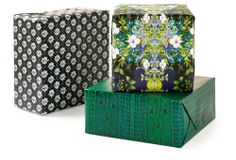 Fabulous Gift Wrap inspired by textiles... One Kings Lane - Designer Wrapping Paper - C. Ronson Highland Cable Gift Wrap