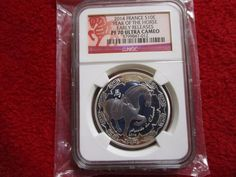 2014 France Lunar Year of the Horse Zodiac Early Release NGC PF 70 Silver Coin