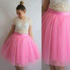 MODAODMS SPÓDNICA SPÓDNICZKA TIULOWA PARIS PINK - moda_od_ms - Eleganckie spódnice Tulle, Skirts, Pink, Etsy, Fashion, Moda, Fashion Styles, Tutu, Skirt