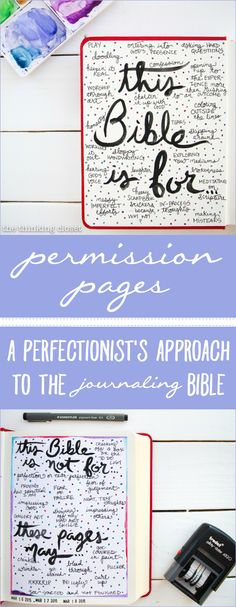 """Permission Pages: A Perfectionist's Approach to the Journaling Bible  
