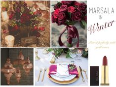 Wedding Ideas & Inspiration   Pantone Color of the Year, Marsala   Winter Inspiration   Moore & Co. Event Stylists   www.mooreandcoeventsblog.com