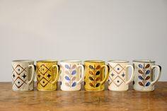 Vintage Stoneware Mugs. NEED THESE