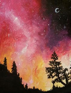 Paint Nite - Galaxy In The Pines II