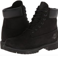Black timberland boots Size 9.5 men's! amazing condition so cute!! I paid 200$ for my boyfriend and he got his own before I could give them to him Timberland Shoes