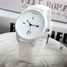 f337d81f810 Preto Branco Silicone Relógio de Quartzo Da Forma Das Mulheres Relógios Das  Mulheres Da Marca Senhoras