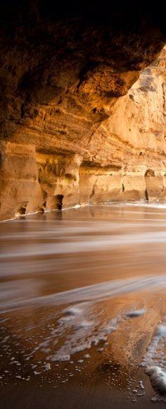 Cave Beach in Algarve, Portugal