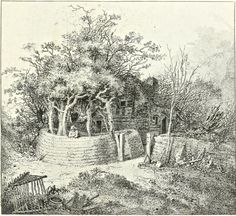 Jack Straw's Castle, HAMPSTEAD Heath. John Thomas Smith's twenty etchings of extravagantly rustic cottages published as Remarks On Rural Scenery Of Various Features & Specific Beauties In Cottage Scenery in 1797