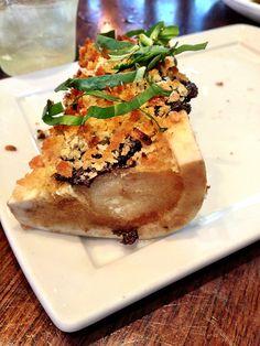 Roasted Bone Marrow with prune pesto
